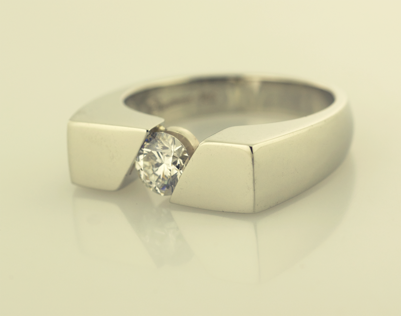 Gents Ring Channel set 1.00ct. Round Diamond | Rings, Artistic ...