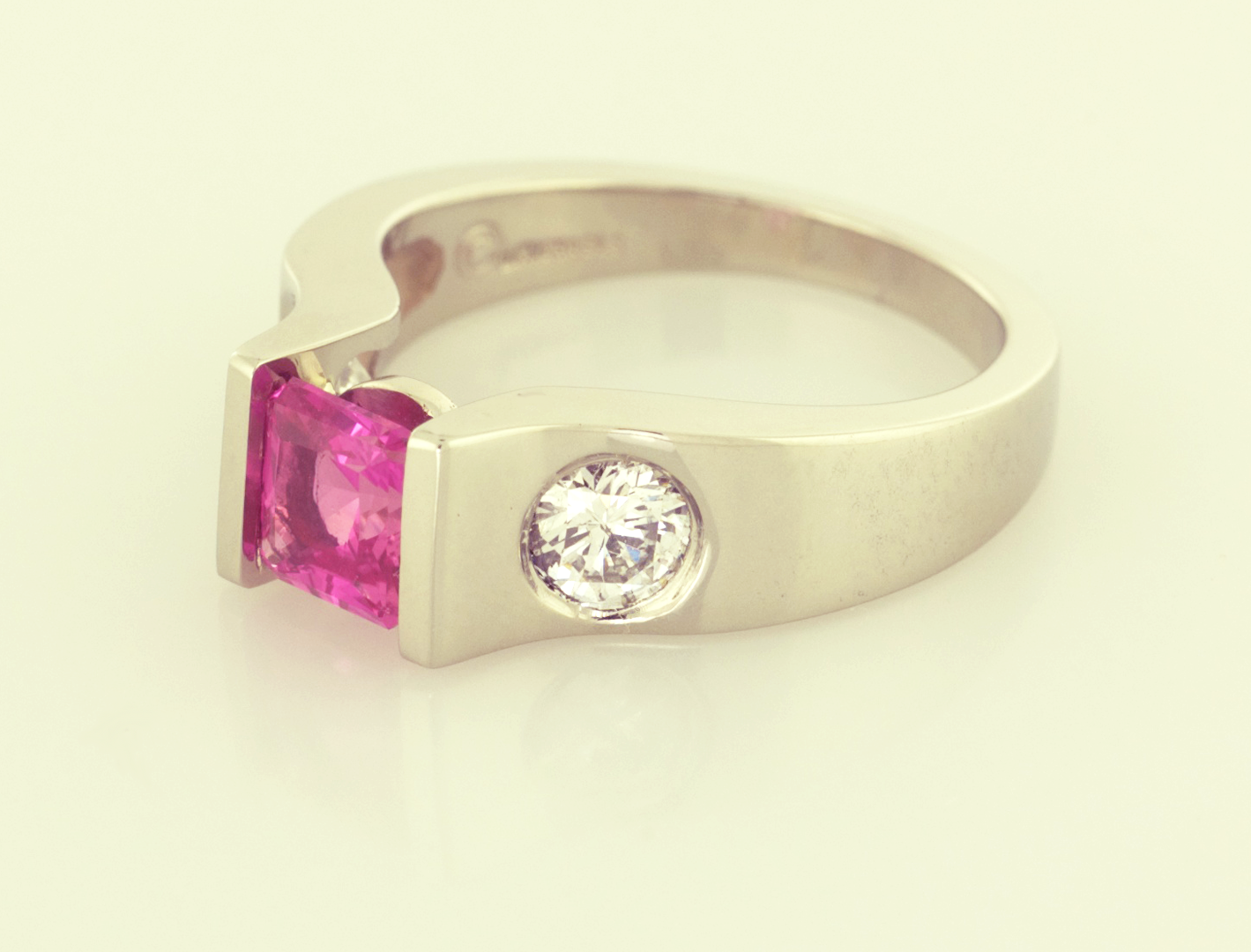 gold rings stone yellow image ramsdens and pink diamond jewellery ring