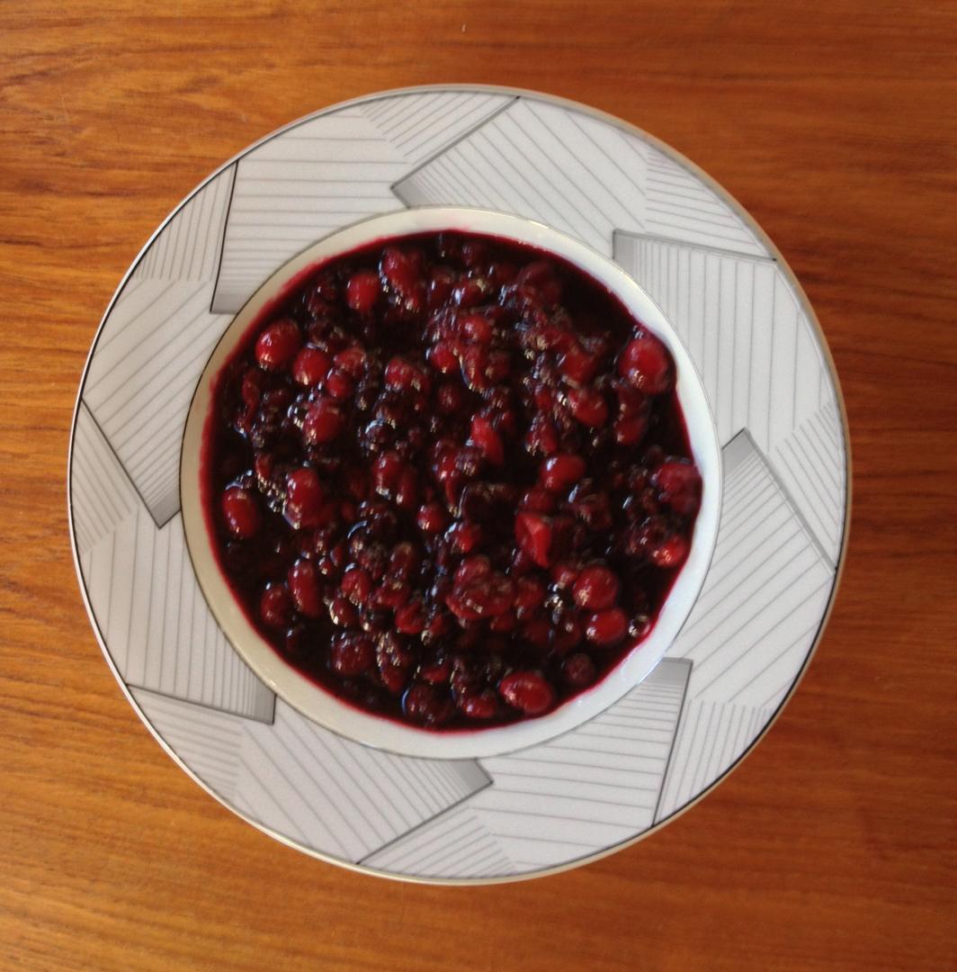 Cranberrry  Blueberry Sauce