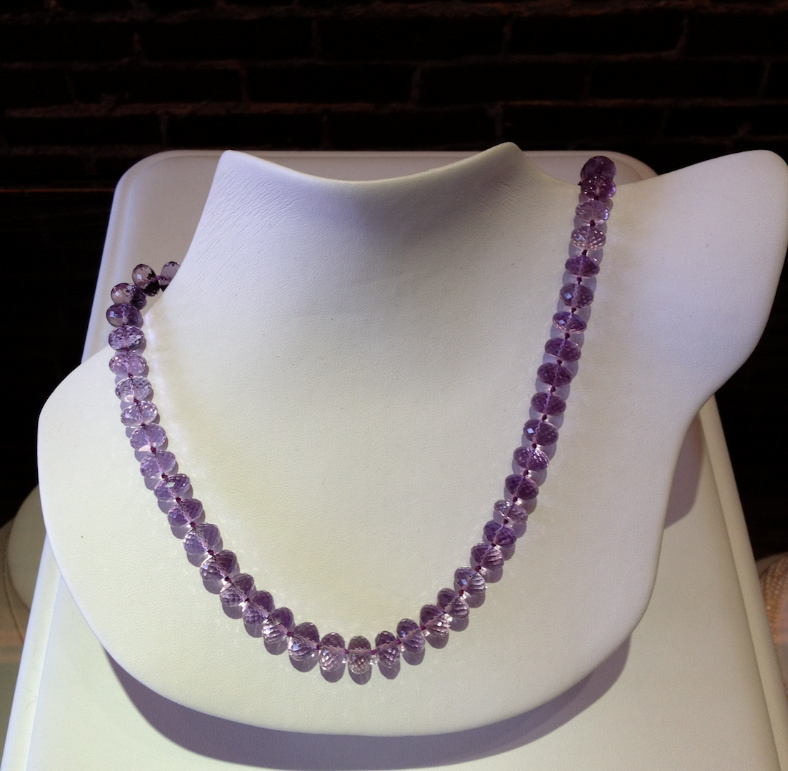 Faceted amethyst beads