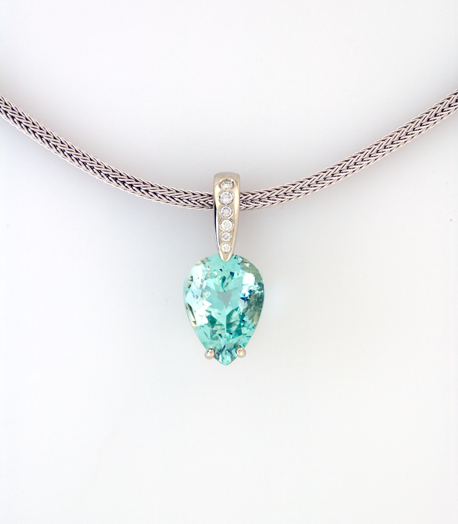 kayelle designs marine products aquamarine pendant aqua necklace