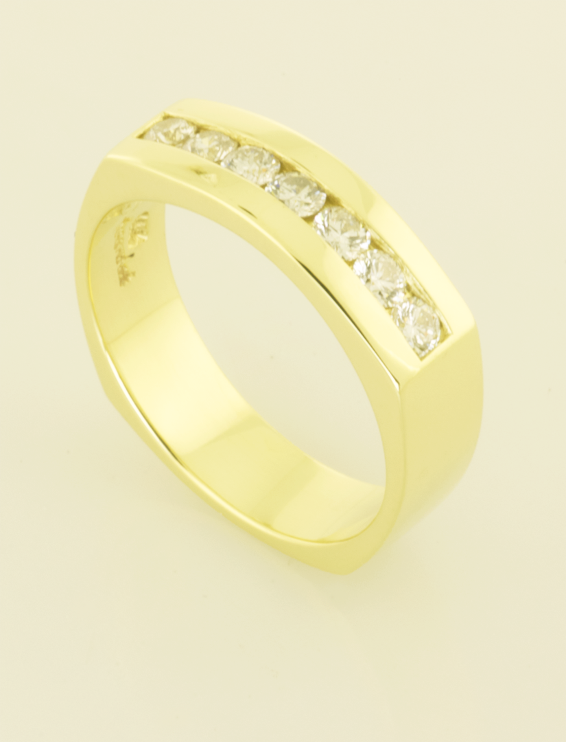 Gents Wedding RIng with .70ct. Diamonds | Rings, Artistic ...