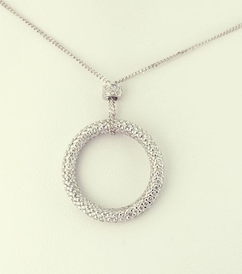 Diamond circle pendant necklaces artistic innovations signature diamond circle pendant aloadofball Choice Image