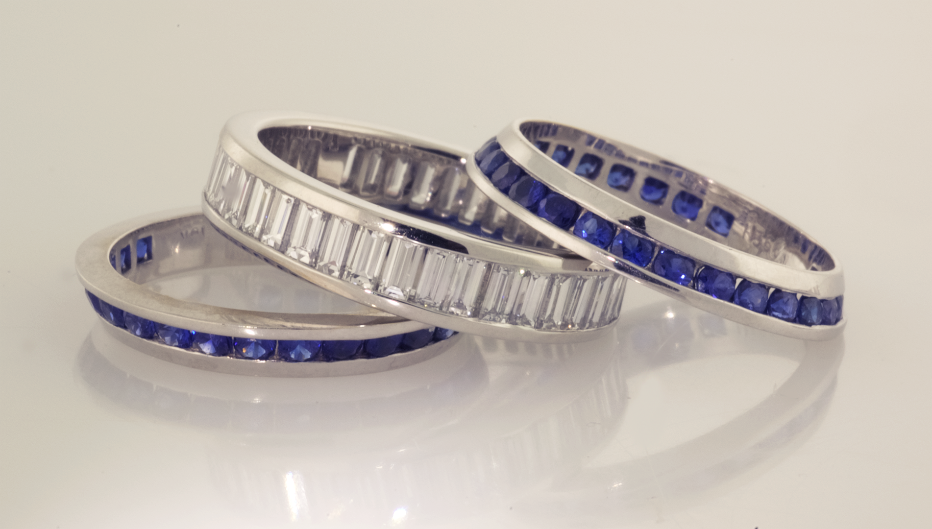 diamond side custom pave eternity halo band bands sapphire