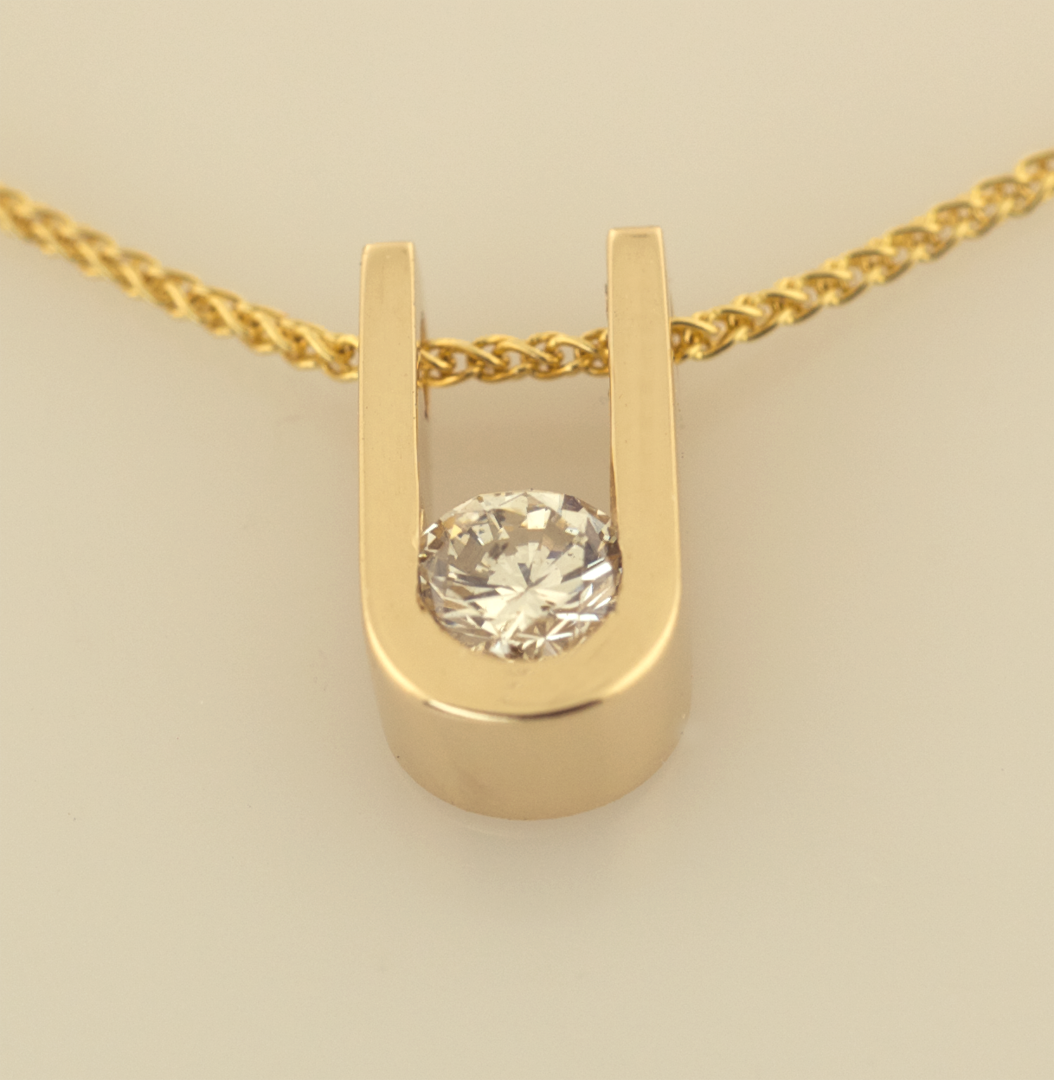 Gold and diamond floating pendant necklaces artistic innovations 14kt gold and diamond pendant on 14kt wheat chain aloadofball Image collections
