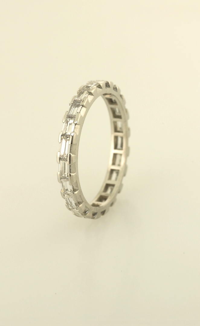 milgrain band eternity platinum ring edge bands ct more pn views diamond baguette cut polished