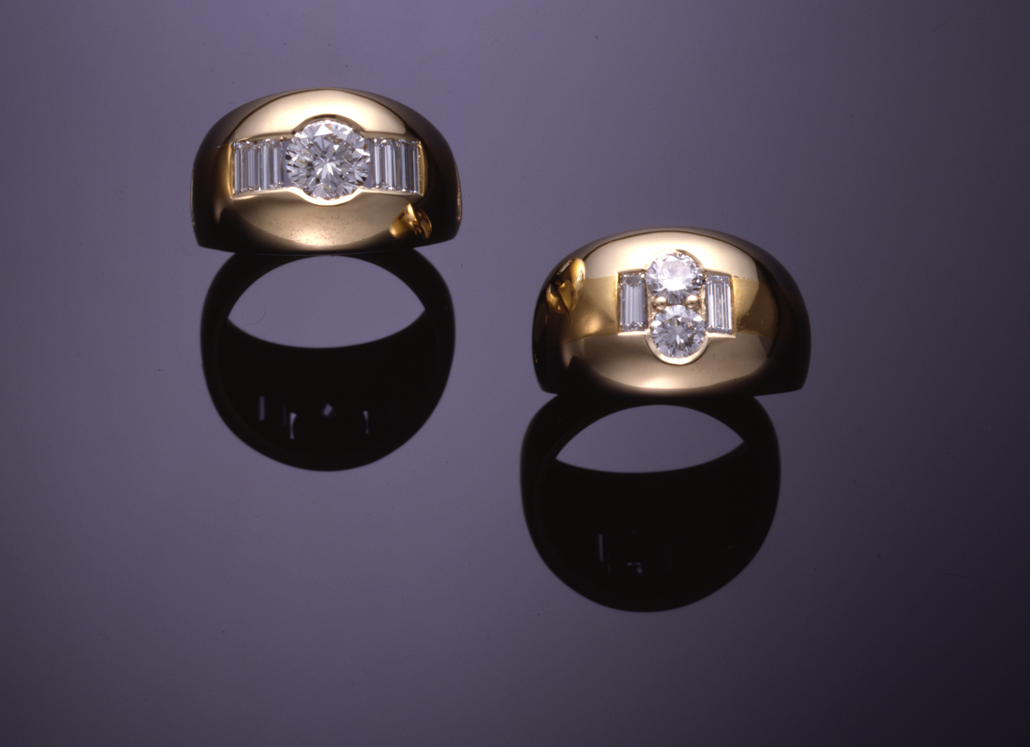 gold rings linda designs dome by
