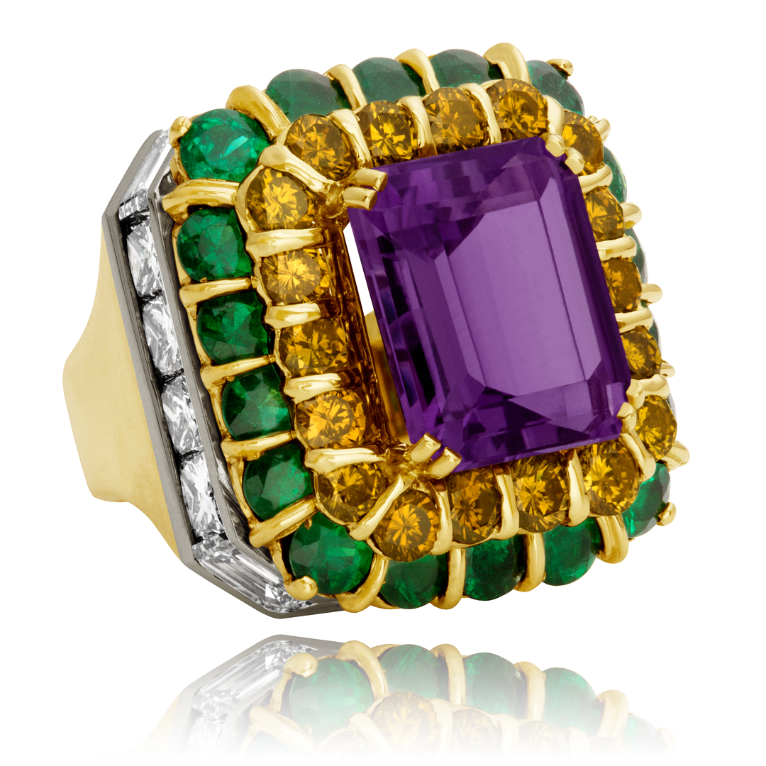 amethyst citrine emerald and ring legacy