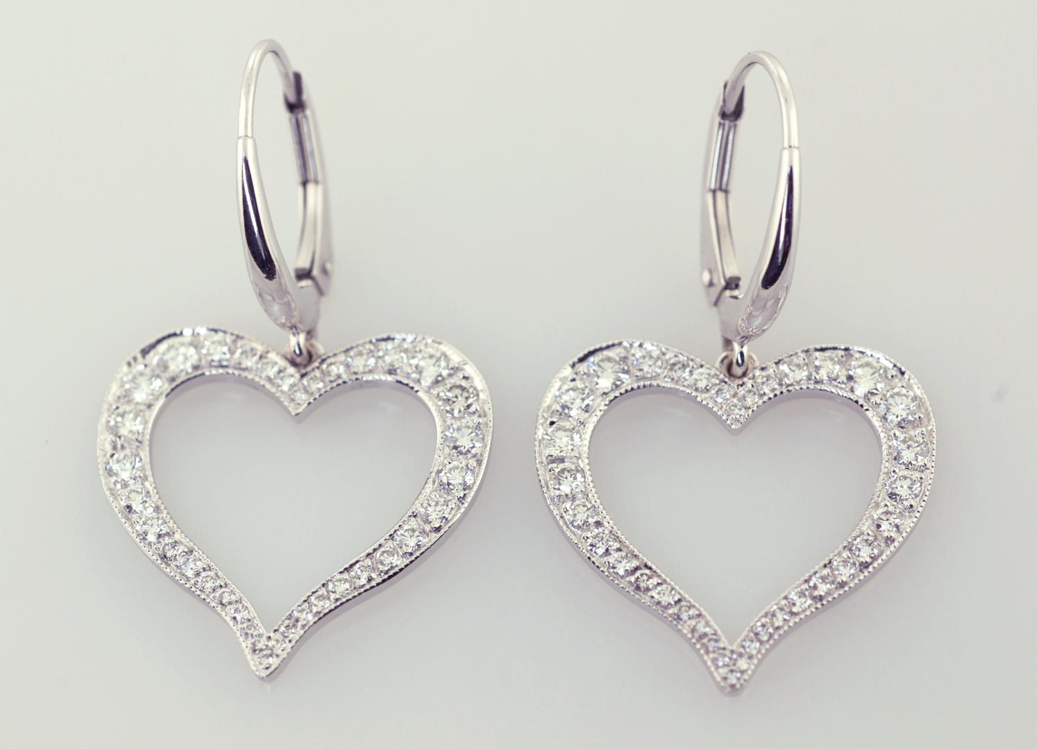 diamonds earrings pdp women products petite pave with main heart