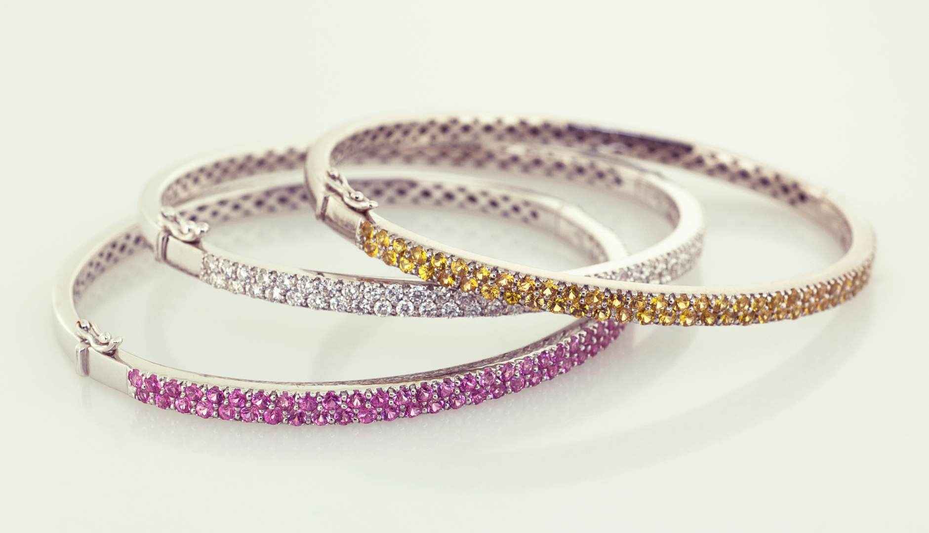 tennis diamond white bracelet collection pink gold ruby london