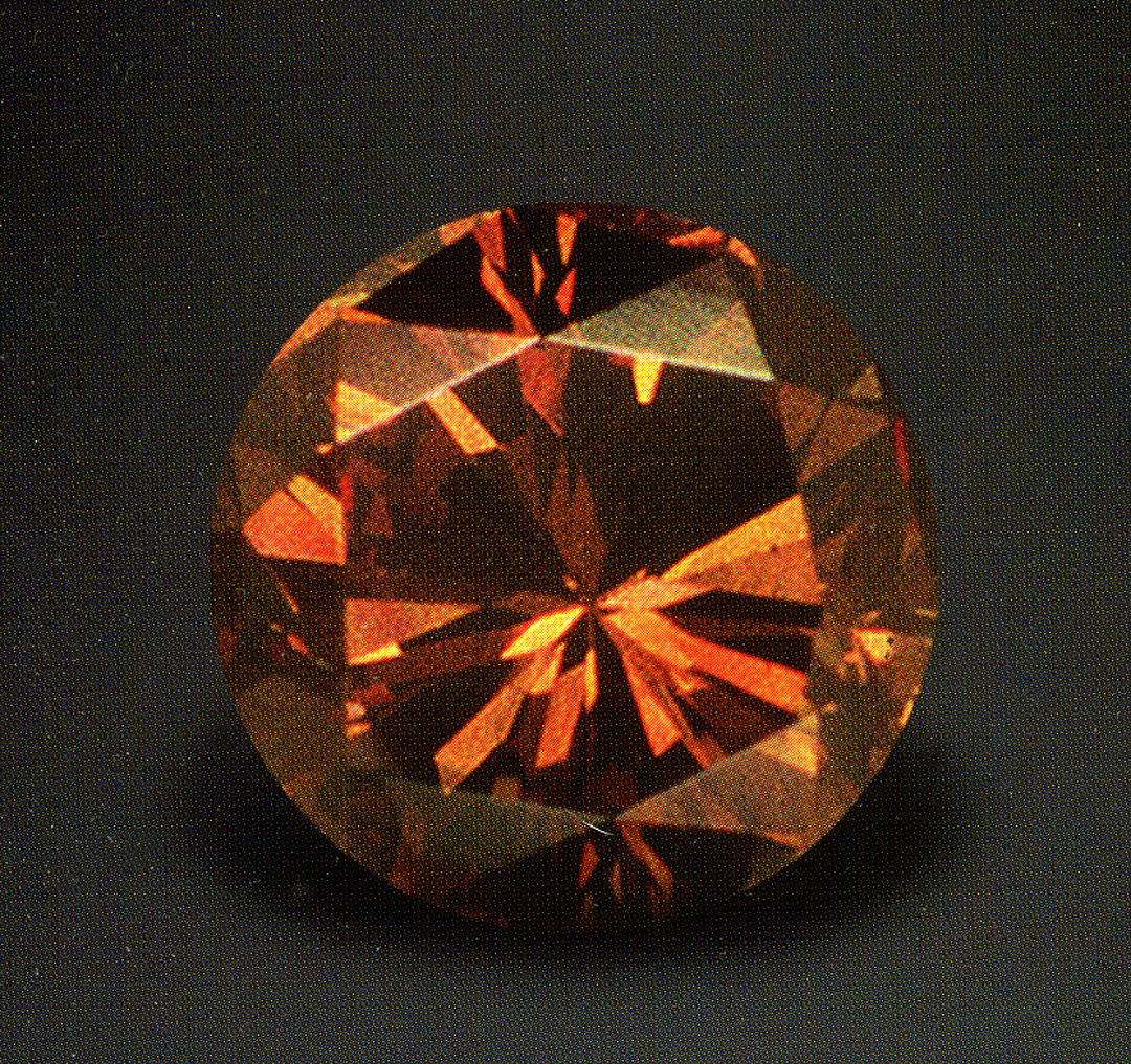 Brown cognac diamond