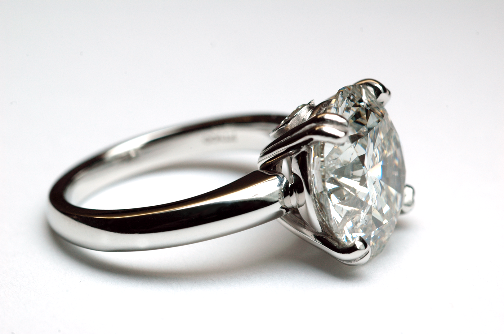 Diamond and platinum solitaire ring Copyrighted Original by Thomas Michaels