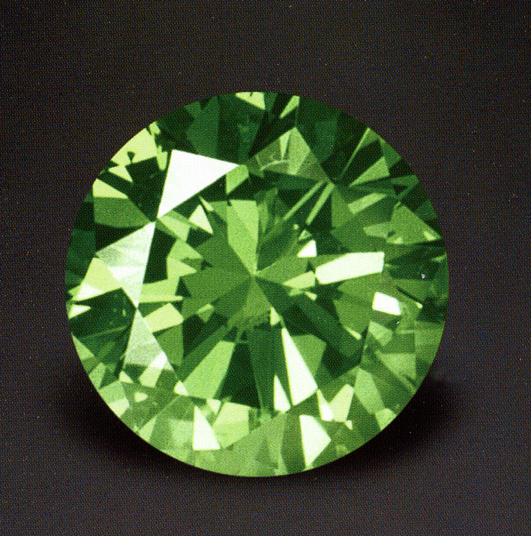 Natural green color diamond
