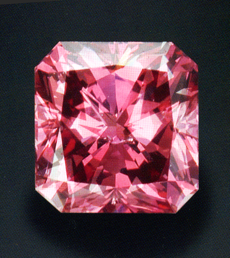 Natural pink color diamond chart