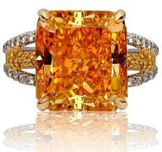 Fancy color orange diamond radiant cut