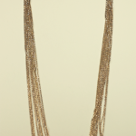 18KT White & Rose Gold Vermeil on Sterling 10 Strand Chain Necklace