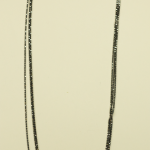 Black Rhodium Vermeil on Sterling 3 Strand Chain Necklace