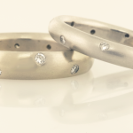 Wedding Bands with Scatter of Diamonds