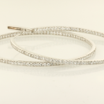 4.50ct. diamond inside out hoop earrings