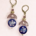 Italian Glass Earrings in violets