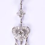 Diamond chandelier heart pendant