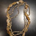 Citrine beads with 14KT yellow catch