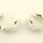 Diamond Huggy Earrings pavé set