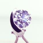 Diamond Contemporary Stud Earring with 1.00ct.diamond