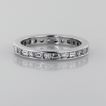 Eternity Band round and baguette shaped diamonds in platinum 1X!