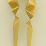 Large Origami Earrings copyrighted Nora Hattman-Michaels