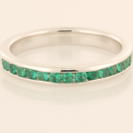 Emerald Partial Eternity Band