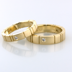 Gold Wedding Bands with diamond accents
