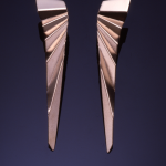 14KT yellow gold folded earrings