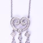 Diamond Large Chandelier heart pendant