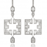 Diamond earrings in geometric symmetry