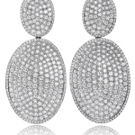 DIamond Earrings n 18KT white gold, Bright Lites