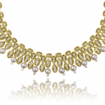 Diamond, Pearl and 18KT yellow gold necklace