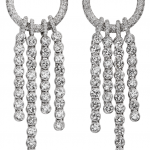 Cascade of diamonds earrings in 18KT white