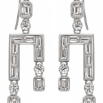Diamond earrings n 18KT white gold