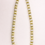 8mm pearl neckalce with 18KT yellow & white gold vermeil on sterling silver