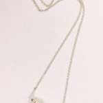 Three 8mm pearls and sterling silver necklace