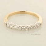 Platinum and 14KT YG Nine Diamonds Ring