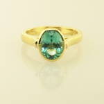 Tourmaline 2.00ct. oval 18KT yellow gold ring
