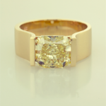 Yellow Diamond contemporary soltaire