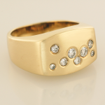 Gent's Scatter of Diamonds Ring