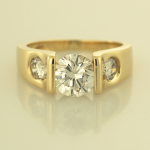 Contemporary Diamond RIng with 2.00ct center