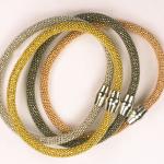 Sterling silver vermeil mesh bracelets