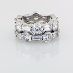 Eternity Bands with baguette and Round shaped diamonds