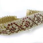 Ruby and Diamond Flexible Bracelet set with 25.94cts. diamonds and 28.10cts. ruby