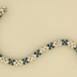 Diamond and Sapphire Flexible Bracelet